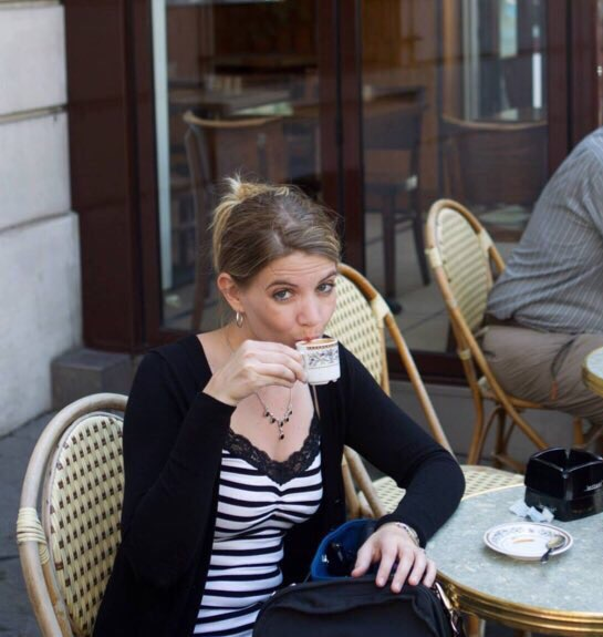 Ashley Rescot espresso in Paris