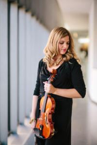 Ashley Rescot profile with acoustic violin