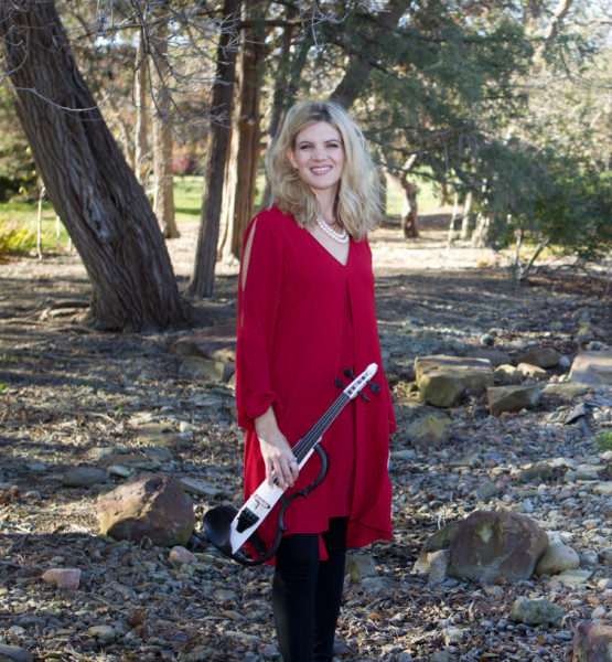 Ashley Rescot Christmas electric violin photo